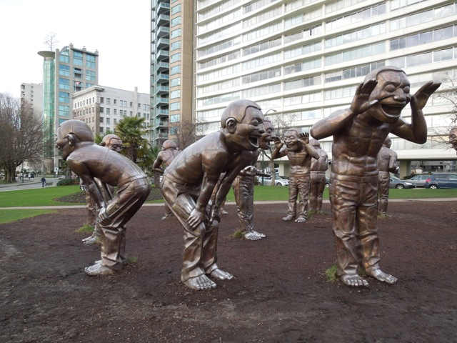 A-maze-ing Laughter sculptures
