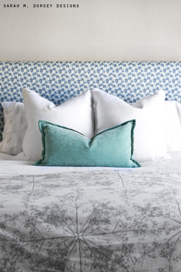 how to make a simple fabric headboard 2