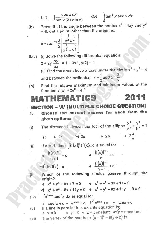 Mathematics-2012-five-year-paper-class-XII