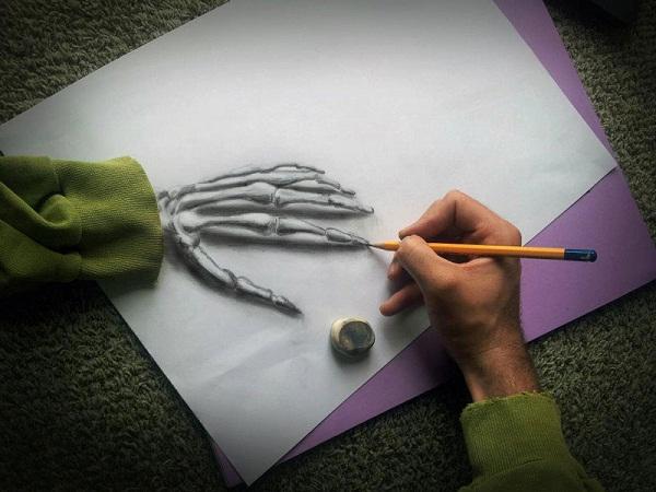 arte, desenho 3D, ramon bruin, desenhos criativos, criatividade, imagens, eu adoro morar na internet