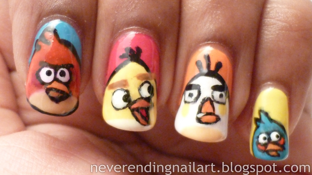 Never Ending Nail Art: Angry Birds Mani / Pedi