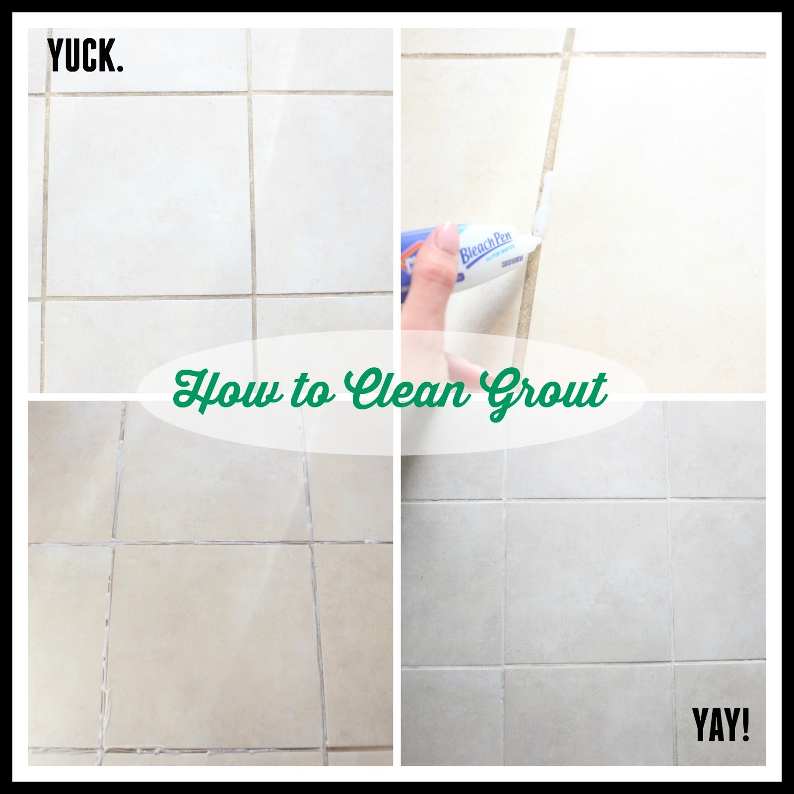 The glam farmhouse how to clean your tile grout for How to clean bathroom grout