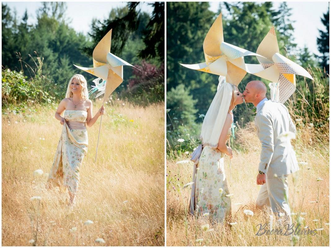 matrimonio diy pinwheel girandole nastri tulle piante grasse oro