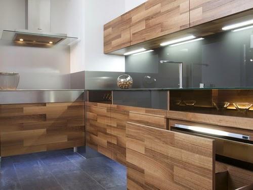 desain dapur minimalis modern bernuansa kayu desain