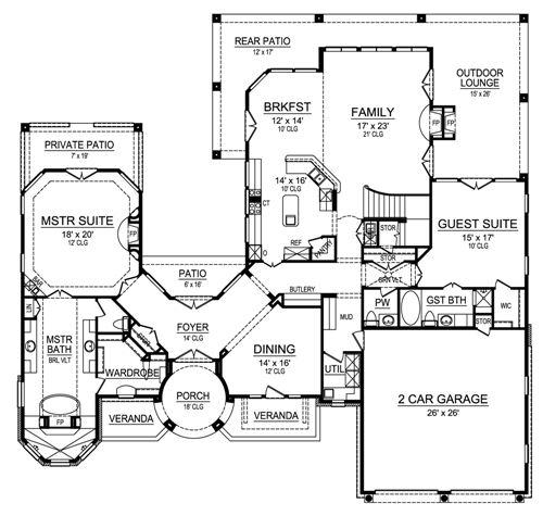 Planos de casas modelos y dise os de casas plano de for Planos de chalets de lujo