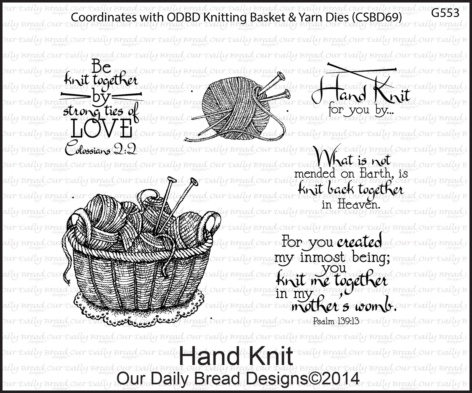 Stamps - Our Daily Bread Designs Hand Knit