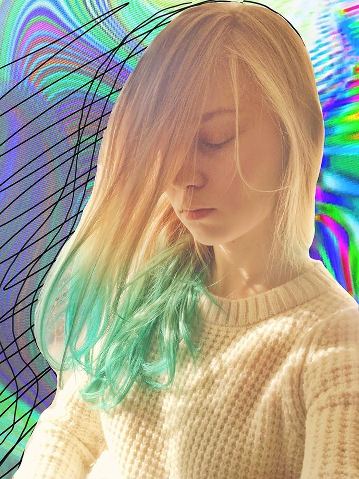 colored hair, цветные волосы