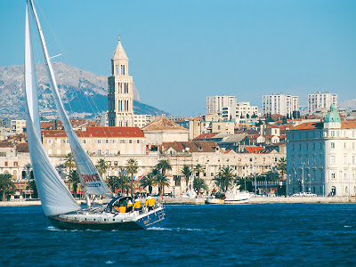 View of Split from the water