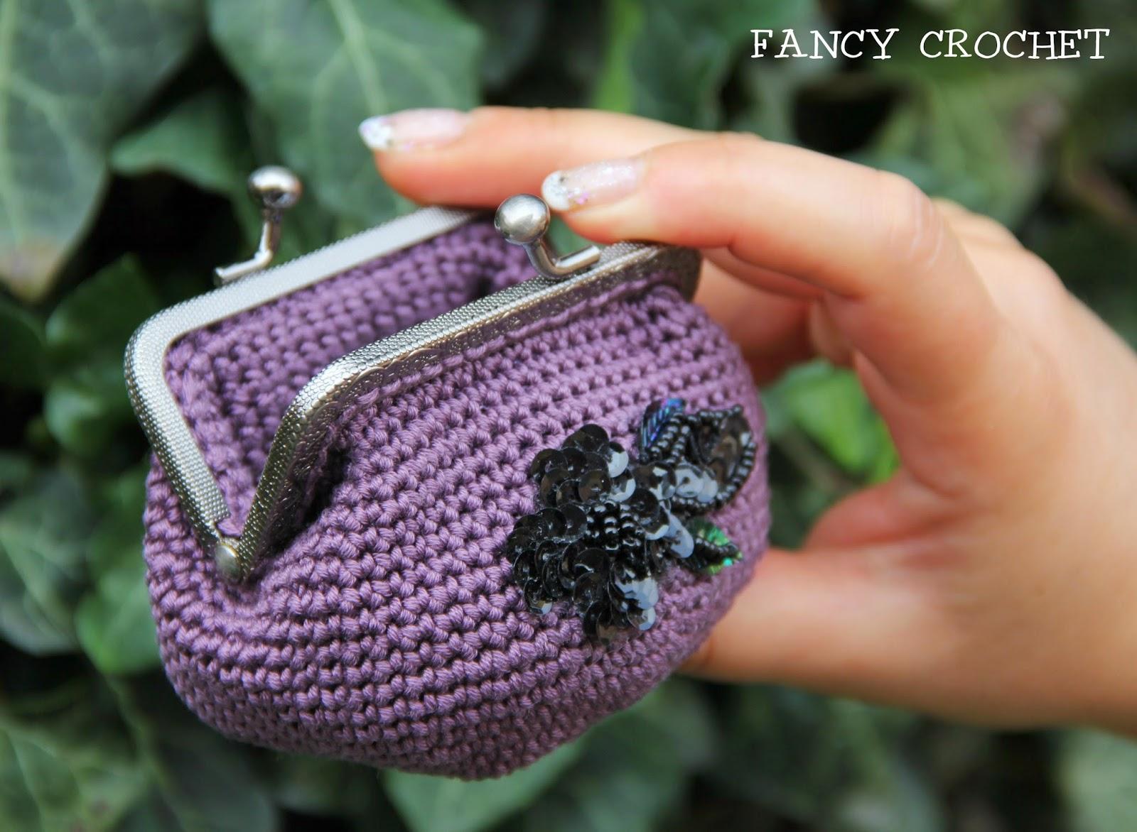 Fancy Crochet Borsellino Click Clack Malva è Eleganza