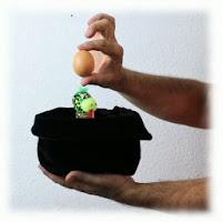 Desaparición y conversión del huevo, magia divertida