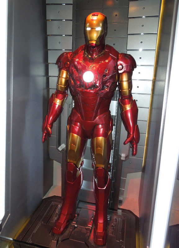 damaged Iron Man mark III armor