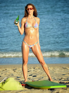 Anais Zanotti wears a blue bikini at Miami on 12/03/2013