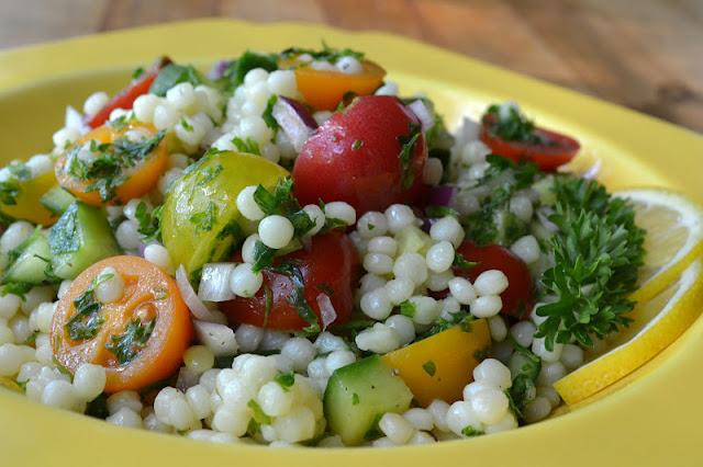 Mediterranean Couscous Salad ~ plain old pasta salad mixes it up with ...