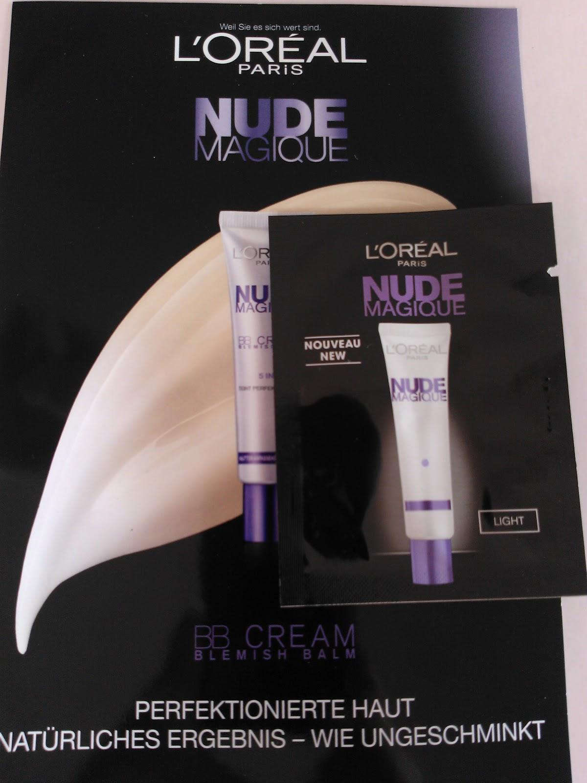 love 4 beauty style l oreal nude magique bb cream im test. Black Bedroom Furniture Sets. Home Design Ideas