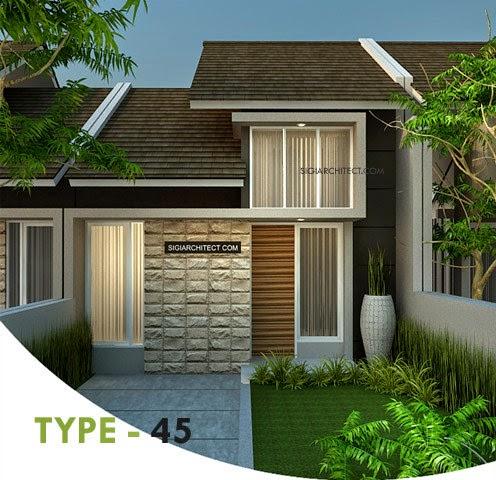 Contoh Desain Rumah Minimalis Type 45 2 Lantai Gaya Tropis