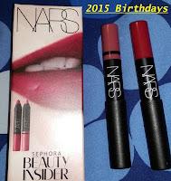 2015 Sephora birthday gift NARS Cruella  Rikugien satin lip pencil velvet matte crayon