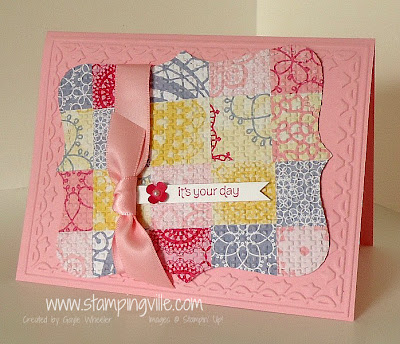 Paper Pieced Quilt Look Mother's Day Card