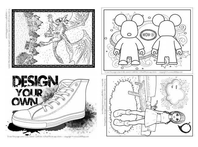 colar mix coloring pages - photo#18