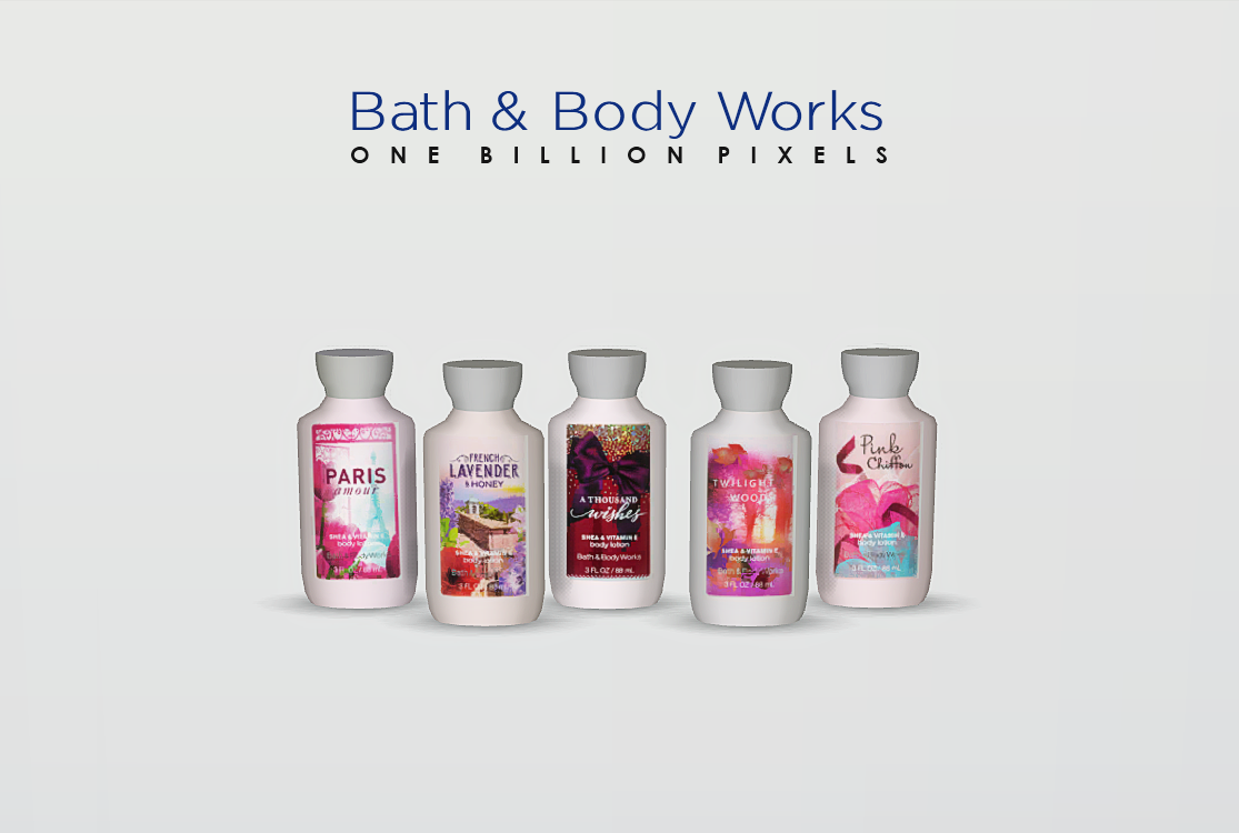 Bath body works shop and set fixed one billion pixels for Bathroom body works
