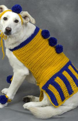 Free Crochet Patterns For Dog Halloween Costumes : Miss Julias Patterns: Free Patterns - 30 Going to the ...