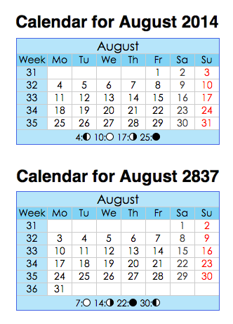 Printable Calendar With Days Of Year Numbered | Calendar Template 2016