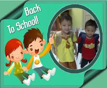 Afiff & Aqiff 1st day to school