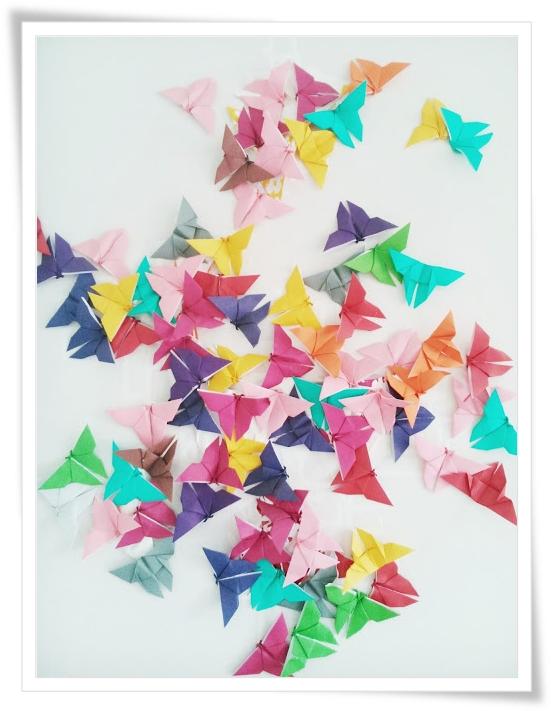 Wiola S Papiermomente Origami Butterflies Schmetterlinge Diy