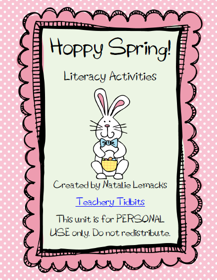 http://www.teacherspayteachers.com/Product/Hoppy-Spring-Literacy-Activities-221302