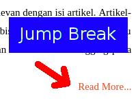 Menggunakan Jump Break pada Artikel Blog