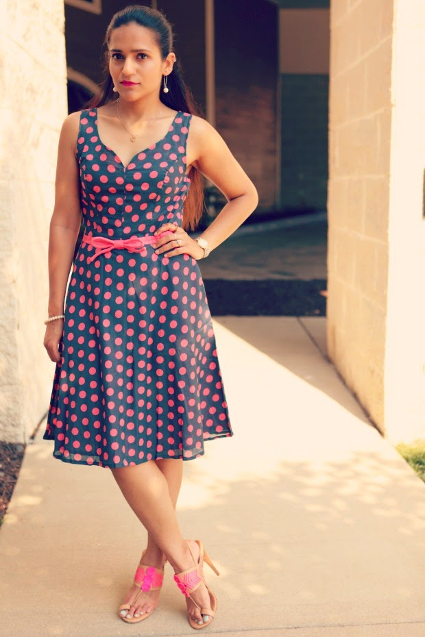 Retro style dresses indian