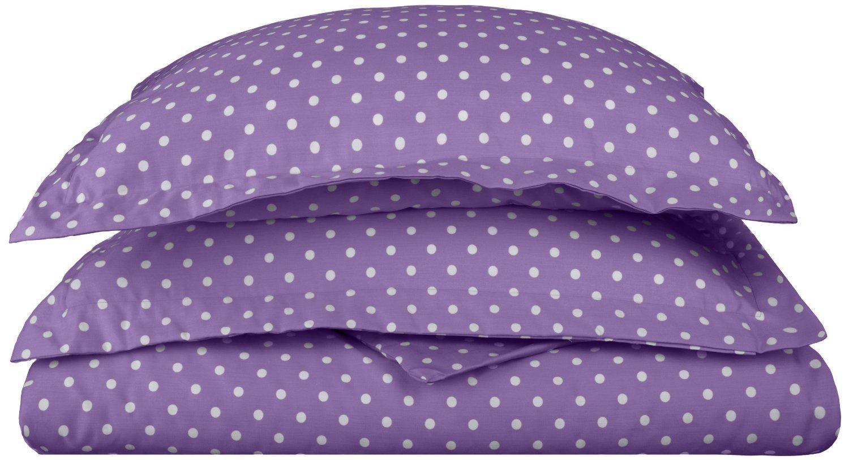 Total Fab: Purple Polka Dot Bedding