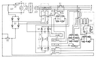Принципиальная схема регулятора напряжения УБК-М