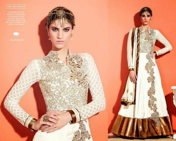 Indian Formal Fancy Anarkali Frocks 2014 By Royal Begum
