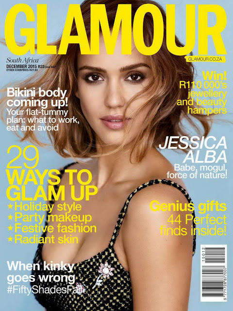 Actress, Model, @ Jessica Alba - Glamour South Africa, December 2015