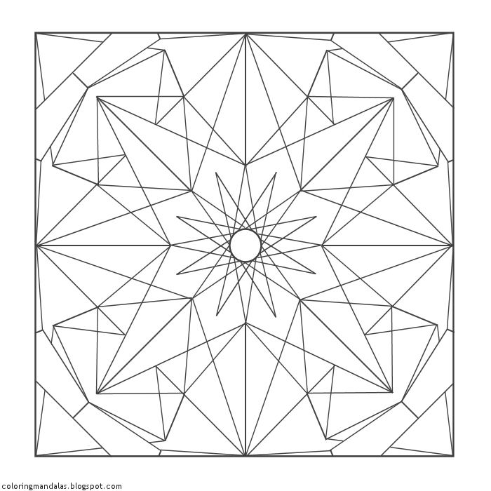 Coloring Mandalas 04 Spinel