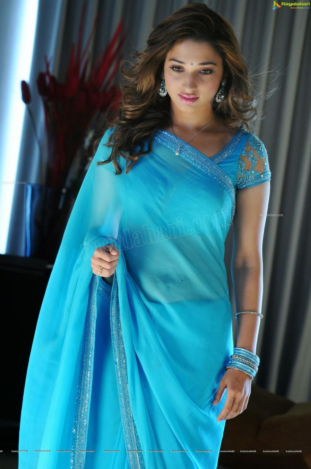 Tamanna Bhatia In Blue Saree
