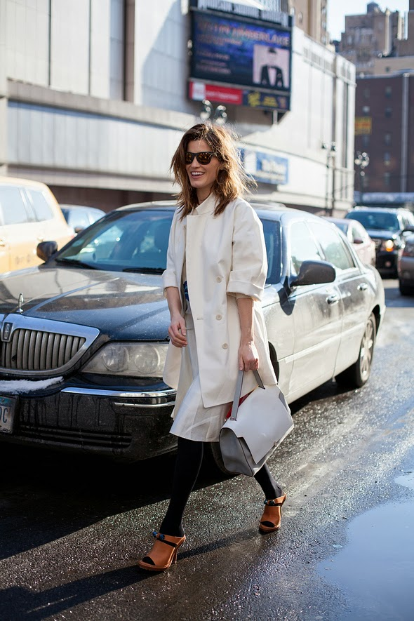 Hanneli Mustaparta new york street style new york fashion week womens fashion winter fashion white in winter 2014 Westward Leaning sunglasses