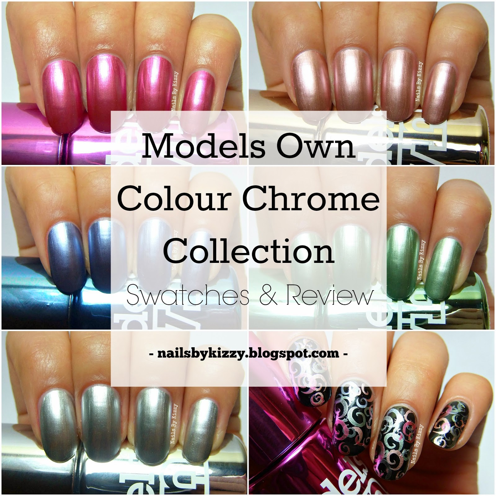 Nails By Kizzy: Models Own Colour Chrome Collection