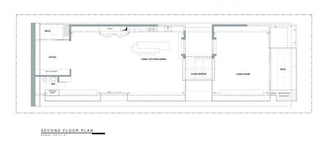 Upper level floor plan of the Modern Contemporary Ettley House