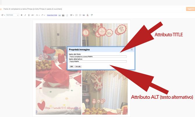 Come inserire attributi ALT e TITLE alle immagini in blogger