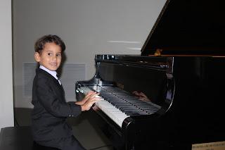 Sebastián durante el recital