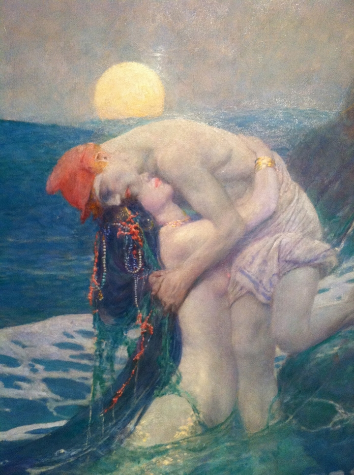 Howard Pyle 1853-1911 | American Golden Age Illustrator | The mermaid, 1910