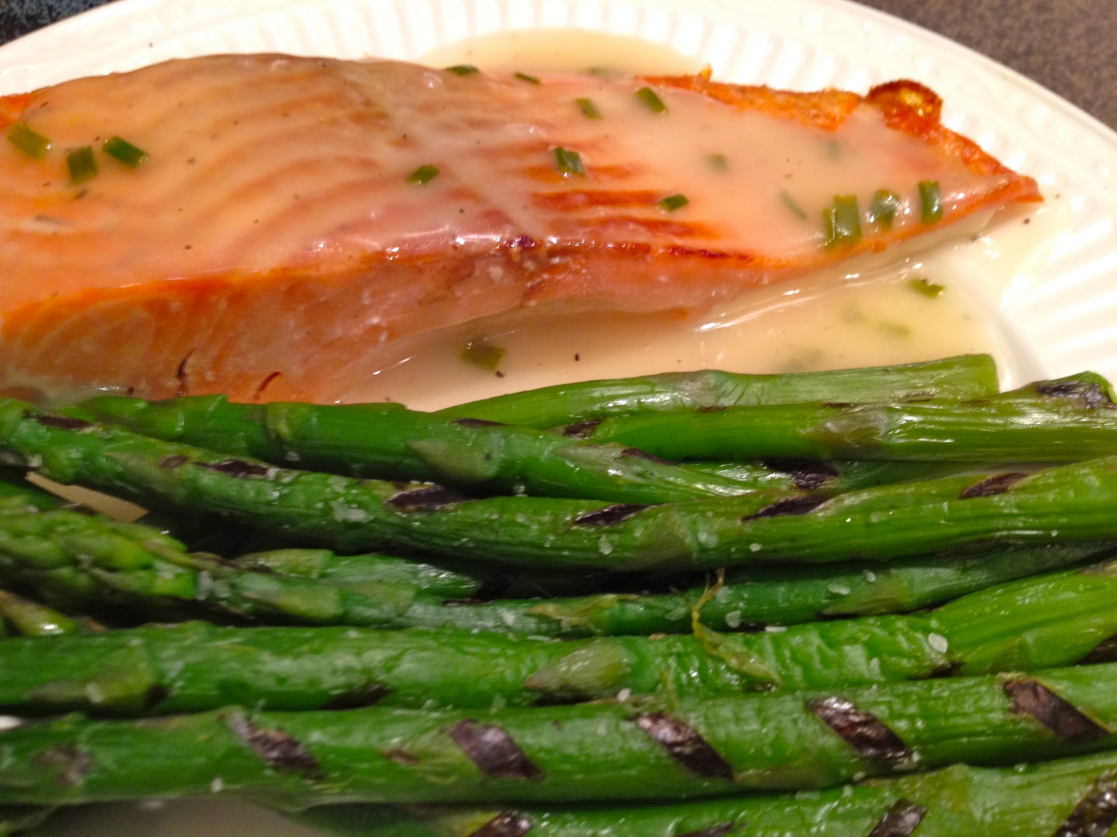 Call Me Mrs. Rapp: Roasted Salmon with White Wine Sauce