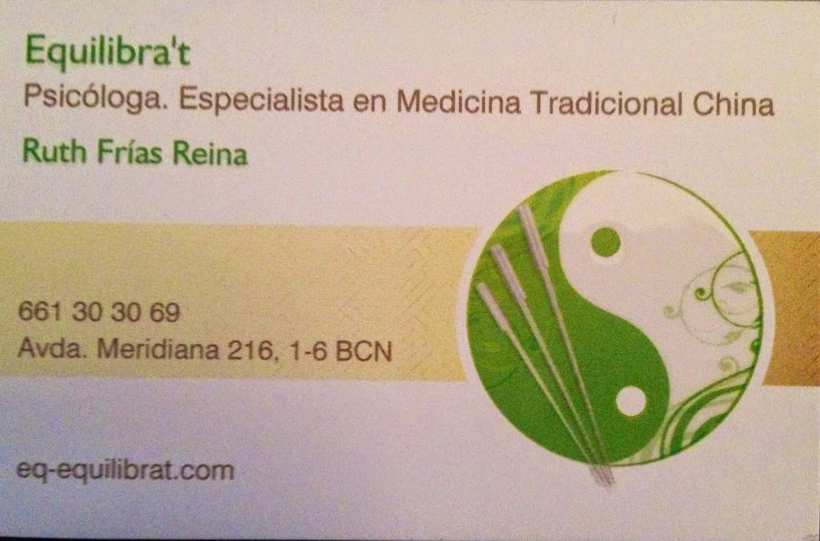Ruth Frías: Terapeuta en Medicina Xinesa i Psicologa