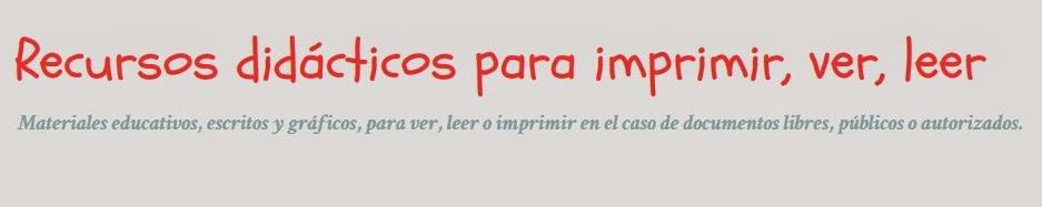 http://recursosdidacticosparaimprimir.blogspot.com.es/search/label/Evaluaci%C3%B3n%20Inicial%20Primaria