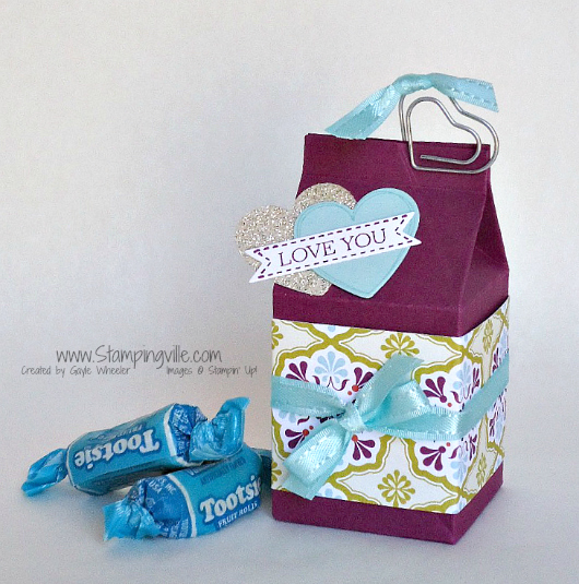 Stampin' Up! Mini Milk Carton Project Idea