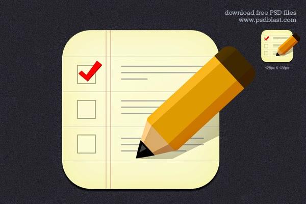 Checklist Icon PSD