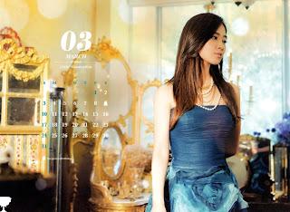 SNSD Yuri Desk Calendar 2013 2