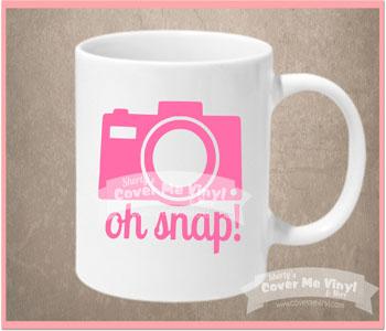 Oh Snap Camera Mug