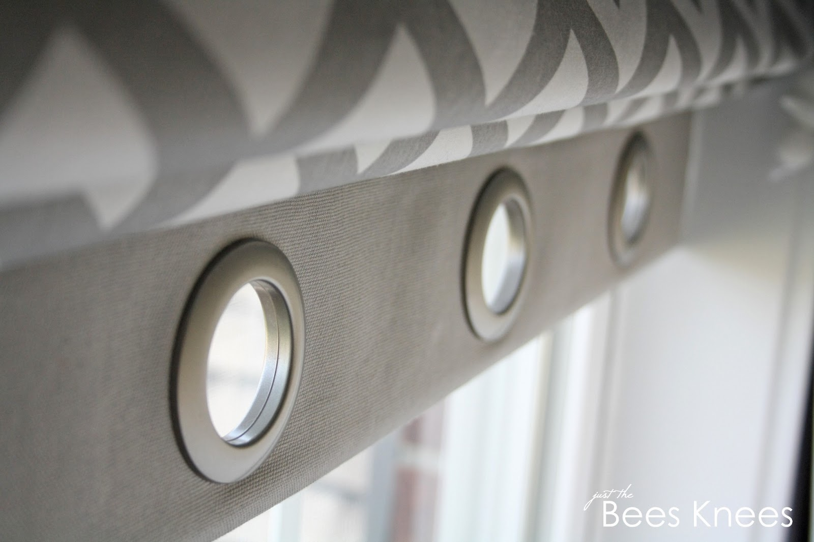 ... use if you want to add grommets to the top of your curtain panels too